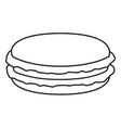 line art black and white macaroon vector image vector image