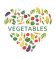 love to vegetables healthy vector image vector image