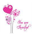Lovely invitation with hearts vector | Price: 1 Credit (USD $1)
