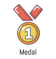 medal icon cartoon style vector image vector image