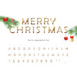 merry christmas golden decorative font elegant vector image vector image