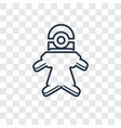 minion concept linear icon isolated on vector image vector image