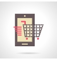 Mobile store flat color icon vector image vector image