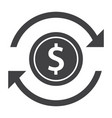 money transfer icon vector image vector image