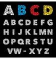Mosaic puzzle alphabet set design vector image
