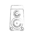 music bass speaker vector image vector image