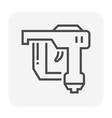 nail gun icon vector image