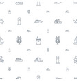 ocean icons pattern seamless white background vector image vector image