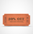 orange vintage sale coupon vector image vector image