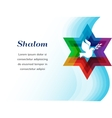 peace pigeon on background blue waves vector image vector image