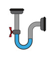 pipeline with faucet vector image