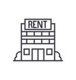 real estate rent line icon sign vector image vector image