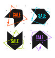 sale banner abstract advertising design set vector image vector image
