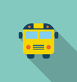 School Bus Flat Icon with Long Shadow vector image vector image