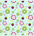 seamless background of exotic fruits vector image vector image