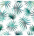 seamless exotic pattern with tropical palm leaves vector image vector image
