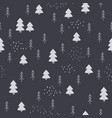 seamless hand-drawn forest pattern in scandinavian vector image vector image