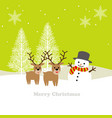 seamless winter landscape with reindeer vector image