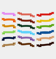 set of colorful empty ribbons and banners vector image vector image