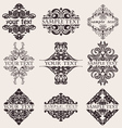 Set Of Nine Ornate Banner Text Quad vector image vector image