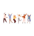 set people celebrating win or goal achievement vector image vector image