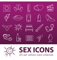 sex outline icons vector image vector image