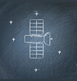 space satellite icon on chalkboard vector image