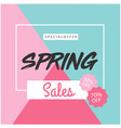 special offer spring sale 50 off 70 off colorful vector image