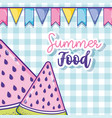 summer food watermelons cartoons vector image