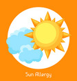 sun allergy for medical vector image vector image