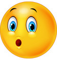 surprised emoticon face cartoon on white backgroun vector image vector image