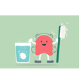 teeth retainer cleaning vector image vector image