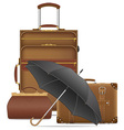 travel bags 02 vector image vector image