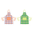two kitchen aprons vector image
