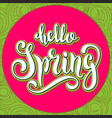 unique handwritten lettering-hello spring on a vector image