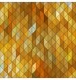 Geometric elegant gold yellow triangle sapphire vector image