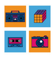 80s technology devices vector image vector image