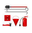 a set of tools to protect from fire vector image vector image