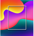abstract colorful background with white frame vector image vector image