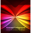 Abstract Design with Neon Lines vector image vector image