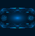 abstract hud ui futuristic frame control center vector image