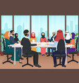 arab business people discussing meeting modern vector image vector image