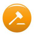 auction gavel icon orange vector image vector image