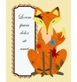 Background with fox vector image vector image