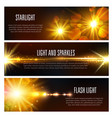 banners of light flash and sparkles effect vector image vector image