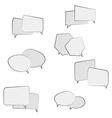 book speech bubble symbol set vector image vector image