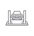 car repair shop line icon concept car repair shop vector image vector image