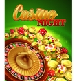 Casino night with roulette vector image vector image