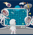children astronuats on a spaceship vector image vector image