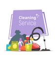 cleaning service stuf vector image